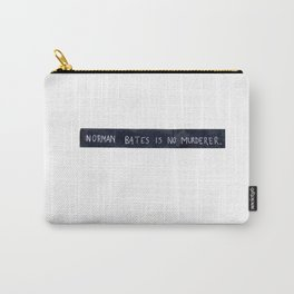 NORMAN BATES IS NO MURDERER. (WHITE VERSION) Carry-All Pouch
