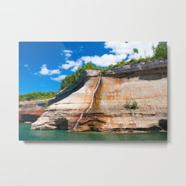 Bridal Veil Falls: Upper Peninsula of Michigan Metal Print