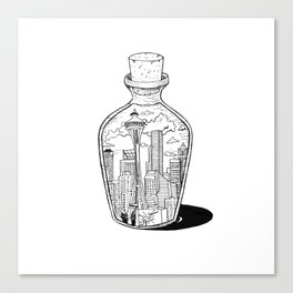 Seattle in a bottle Canvas Print