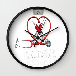 crazy to stab you Wall Clock