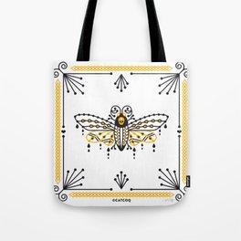 Death's Head Hawkmoth – Yellow & Black Palette Tote Bag