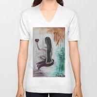virgo V-neck T-shirts featuring Virgo by sladja