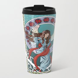 Christmas Angel Metal Travel Mug