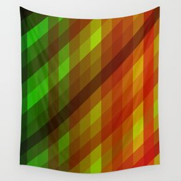 Cool to Hot Weaving Lanes Wall Tapestry