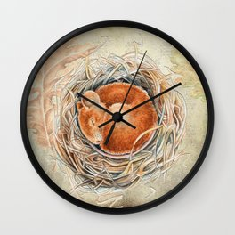 Mouse in the nest Wall Clock