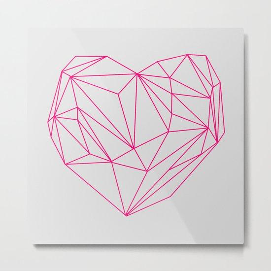 Heart Graphic Neon Version Metal Print