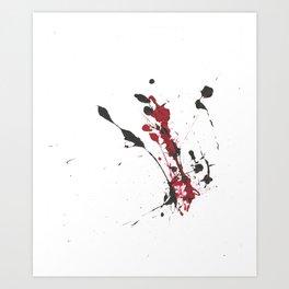 A bottle falls... Art Print