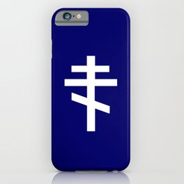 orthodox or russian cross 2 iPhone Case