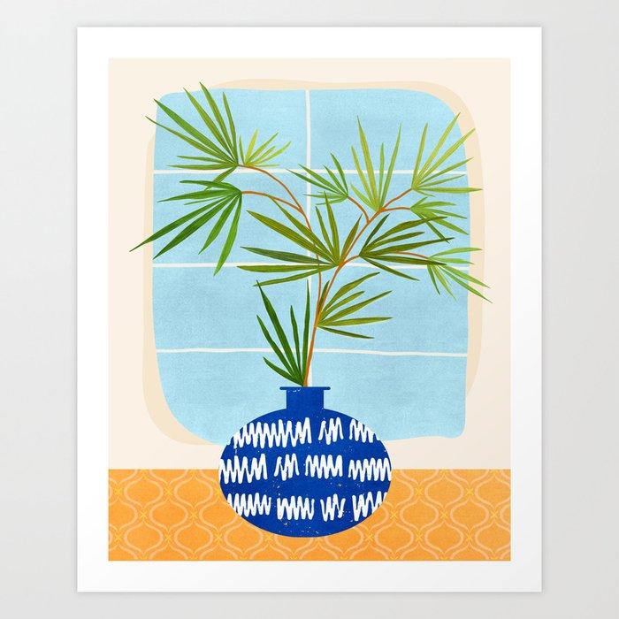 Window Seat / Contemporary House Plant Art Print