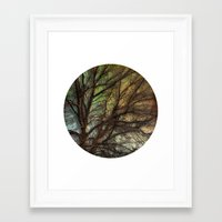 psychadelic Framed Art Prints featuring Psychadelic Tree by Jeanne Hollington
