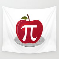pie Wall Tapestries featuring Apple Pie by Adamzworld