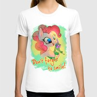 mlp T-shirts featuring MLP: Don't forget to smile! by Erin Liona