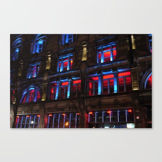 Red and Blue Building by misplacedfocus