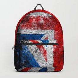 Great Britain grunge flag Backpack