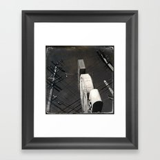 The Wizz take 2, Black and White San Francisco Framed Art Print