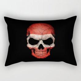 Dark Skull with Flag of Austria Rectangular Pillow
