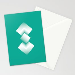 green energy tower Stationery Cards