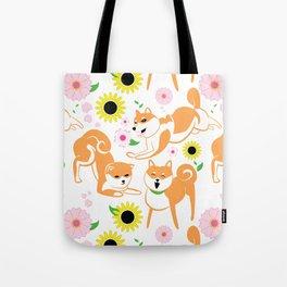 Spring Shiba Tote Bag