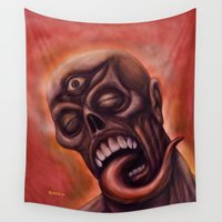 third eye Wall Tapestries featuring Third Eye by Robert Elrod