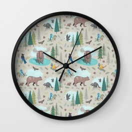 Wild Adventures Wall Clock