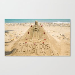 Sand Castle in Puerto Vallarta Canvas Print