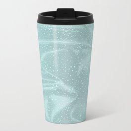 Blue Snow WInter Background Travel Mug