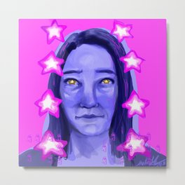 STAR GIRL Metal Print