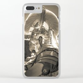 Roman soldier Clear iPhone Case