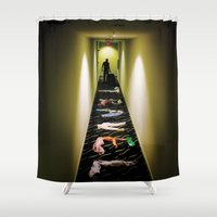 travel poster Shower Curtains featuring Travel by Camilo Rojas