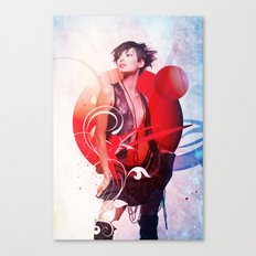 Data Kiss Canvas Print