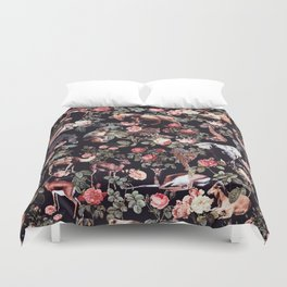 Animals and Floral Pattern Duvet Cover