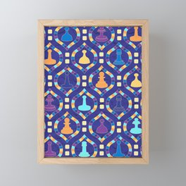 Game Board - Purple Framed Mini Art Print