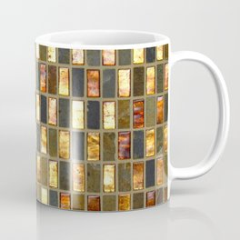 Black Gold Copper Tile Coffee Mug