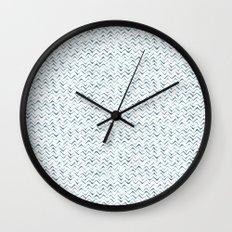 Watercolour Zig Zags Wall Clock