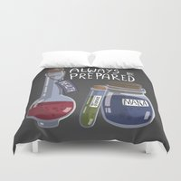 alchemy Duvet Covers featuring Alchemy Potions by sw4mp rat