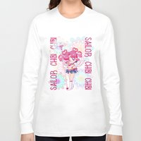 chibi Long Sleeve T-shirts featuring Sailor Chibi Chibi Moon by Neo Crystal Tokyo