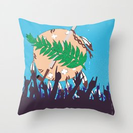 Oklahoma State Flag with Audience Throw Pillow