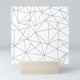 Ab Outline 2 Grey on White Mini Art Print