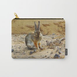 Rabbit at the Petroglyph National Monument - 001 Carry-All Pouch