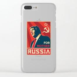 Trump Russia Clear iPhone Case