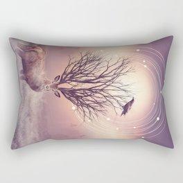 In the Stillness Rectangular Pillow