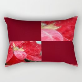 Mottled Red Poinsettia 2 Blank Q10F0 Rectangular Pillow