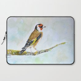 European goldfinch on tree branch Laptop Sleeve