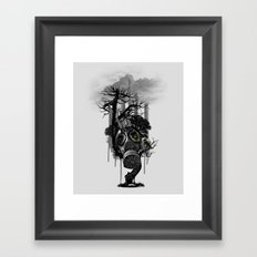 DIRTY WEATHER Framed Art Print