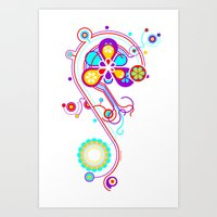 psychedelic Art Prints featuring Psychedelic by tuditees