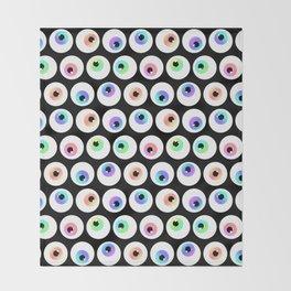 Lovely Sparkly Rainbow Eyeballs Throw Blanket