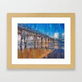 Pier of Mongaguá Beach Framed Art Print