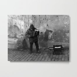 The Persistence of a Street Performer Metal Print