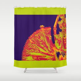 Quan Yin-Purple Shower Curtain