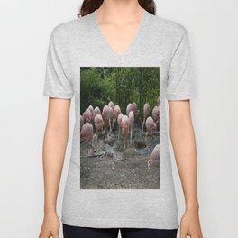 Stop! I lost my contact lens! Unisex V-Neck
